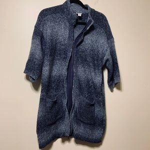Chico's long 2zipper cardigan